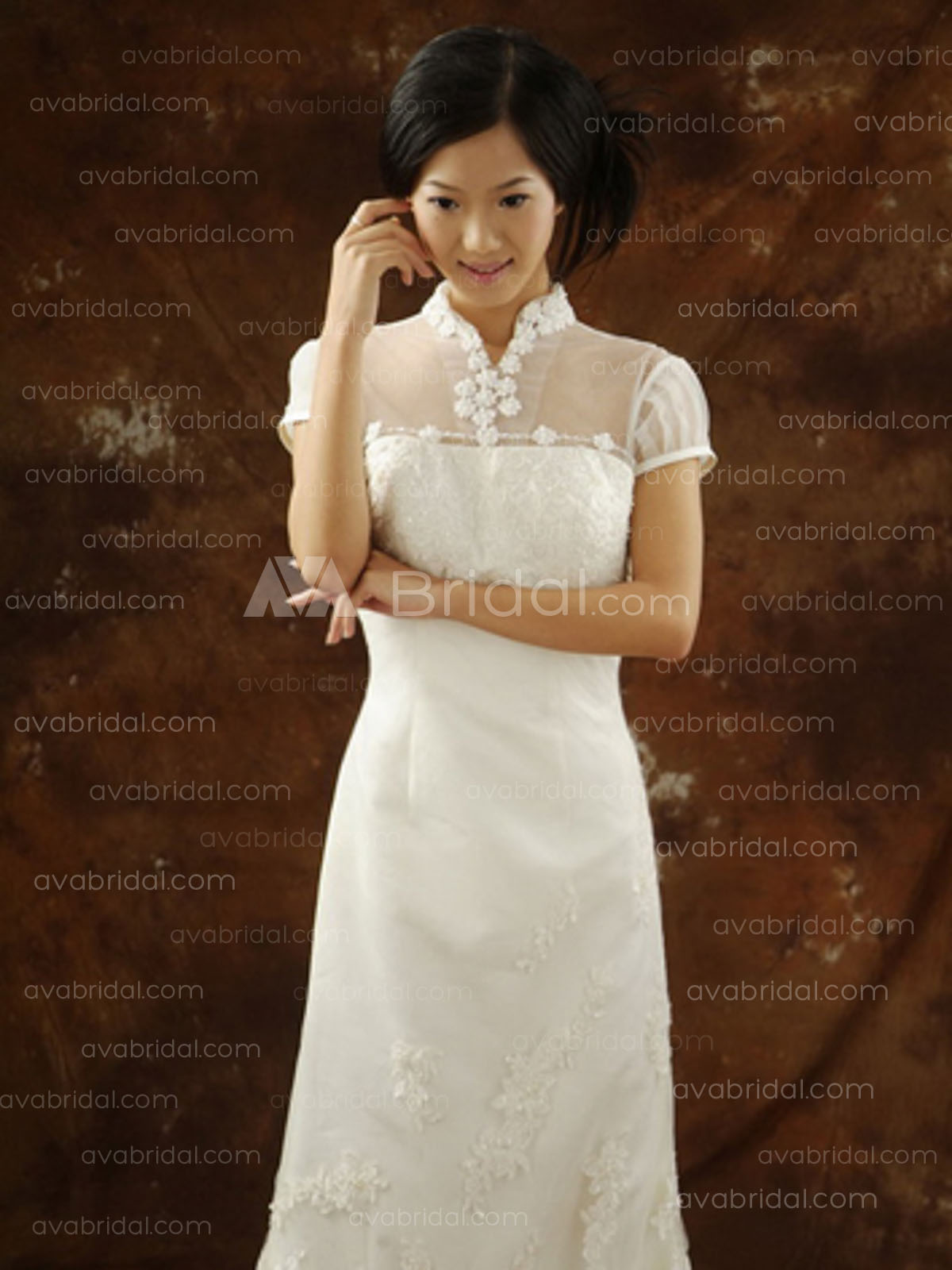 Asian style wedding dress