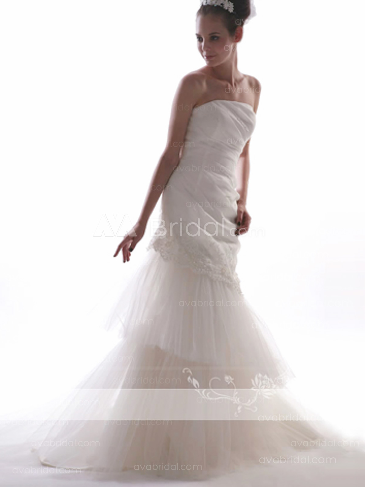 Elegant Wedding Dress - Hallie - Front