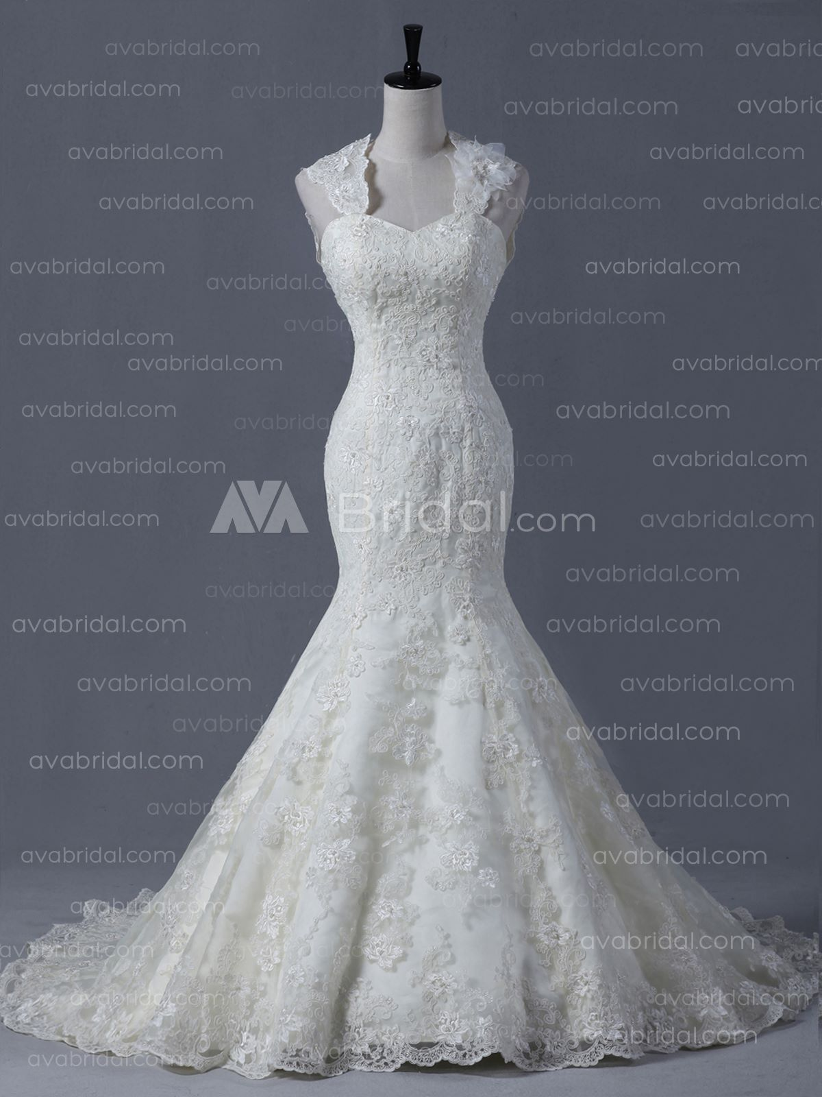 Elegant Lace Wedding Dress - Kaitelyn-Front