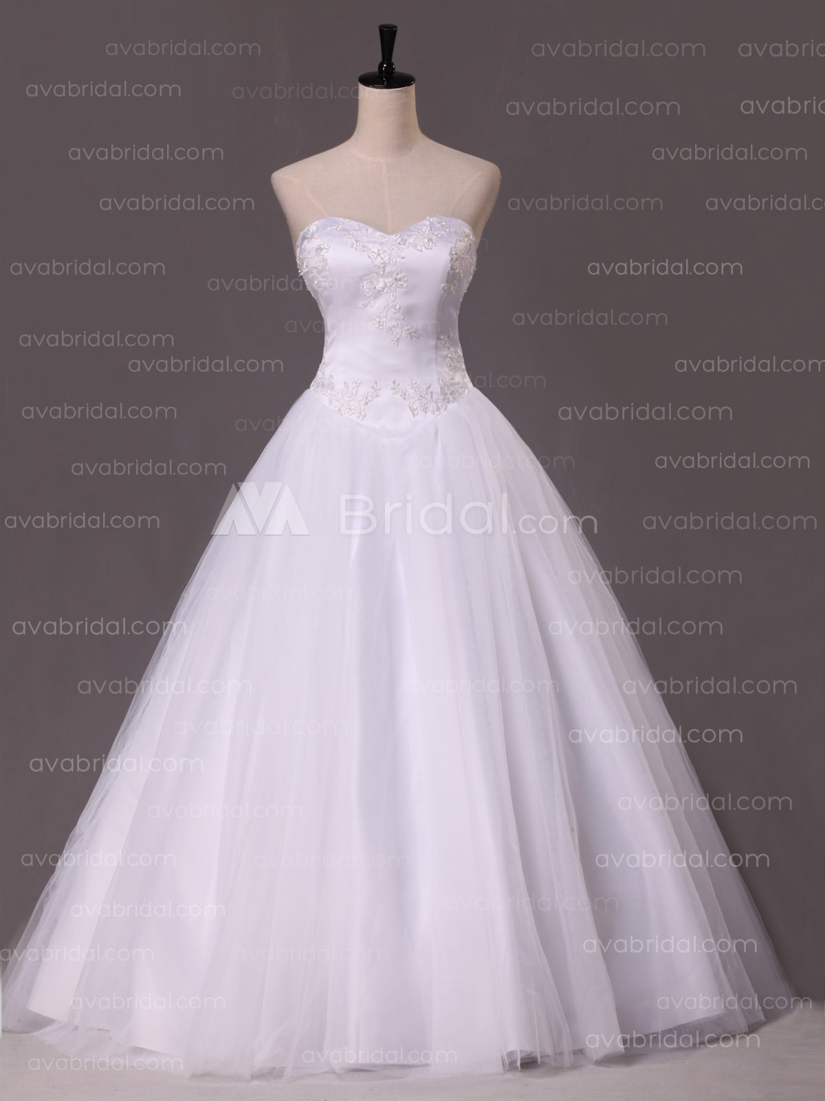Princess Wedding Dress - Amber - Front