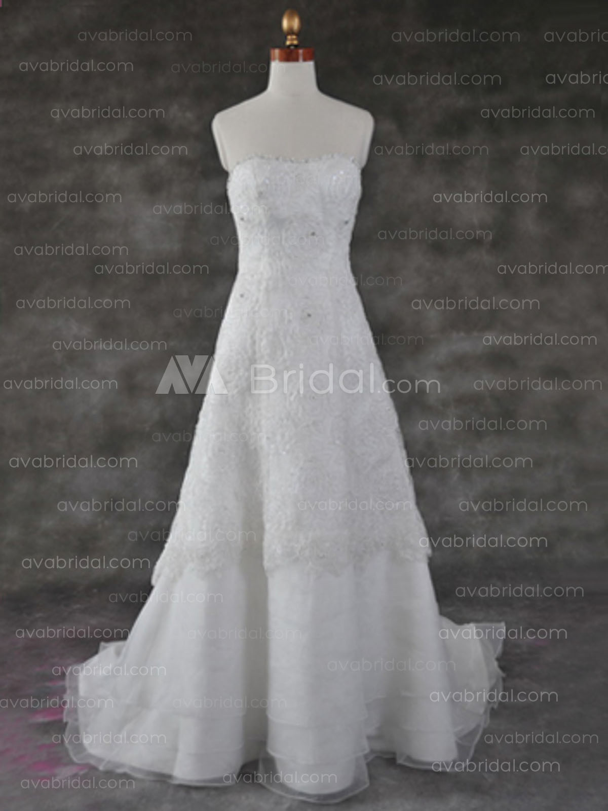 Lace Wedding Gown - Camille - Front