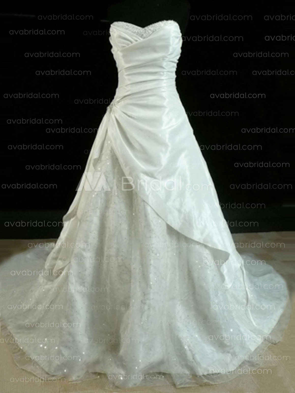 Classic A-line Wedding Dress WA190-Front