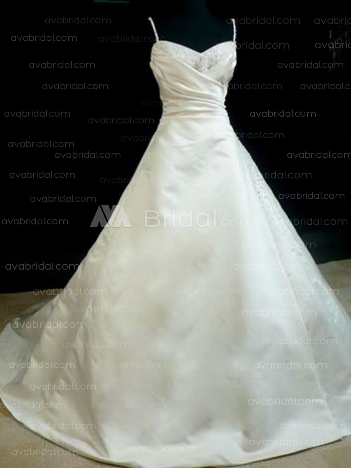 Classic A-line Satin Wedding Dress WA192-Front