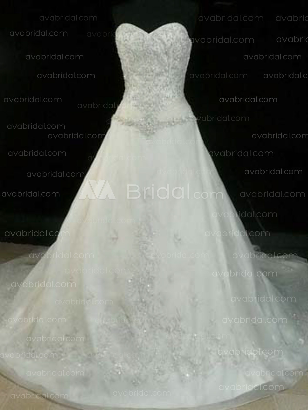 Winter Wedding Dress - Saphire - Front