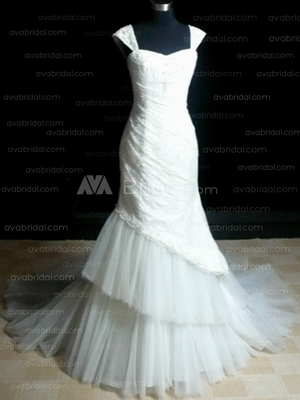Elegant Wedding Dress - Ellenora - front