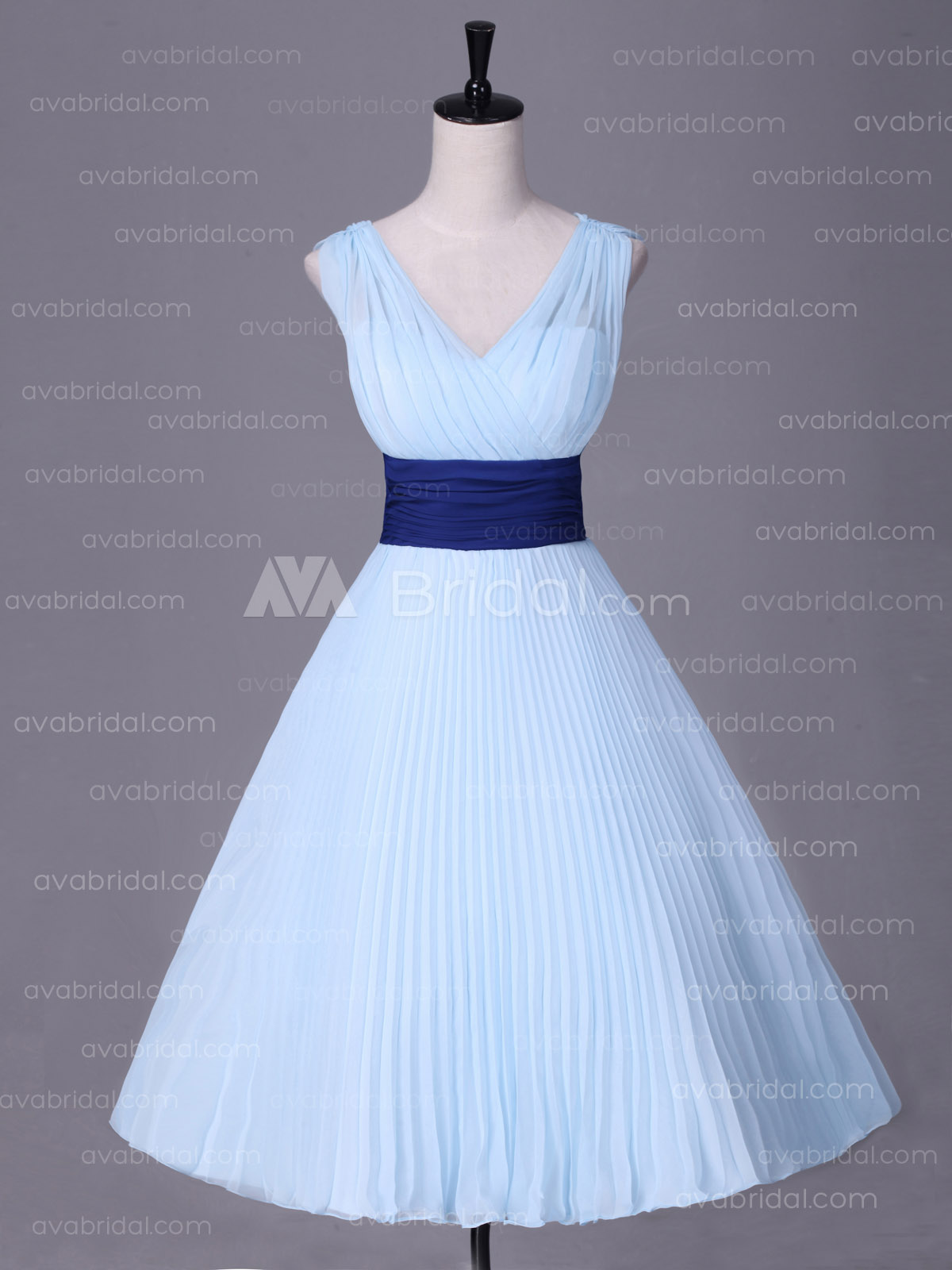 1950s Inspired Tea Length Bridesmaid Dress B486 -Front