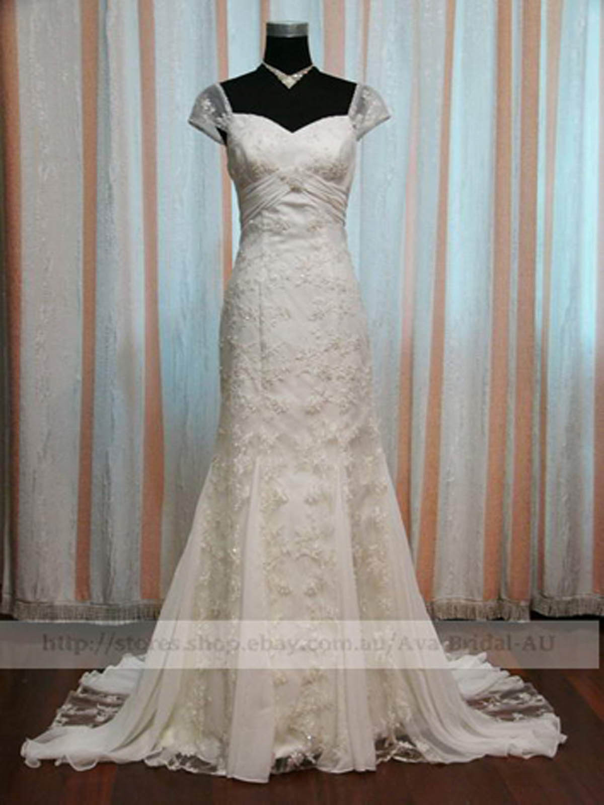 Vintage Inspired Wedding Dress - Heidi - Front