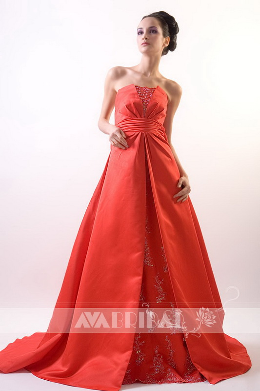 Red Bridal Gown - Harriet - Front