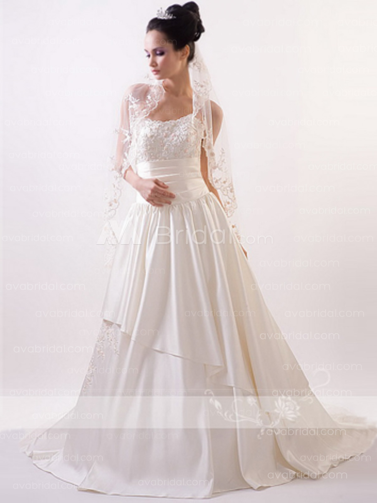 24feda92d0f Modern Wedding Dress - Kevina - Front ...