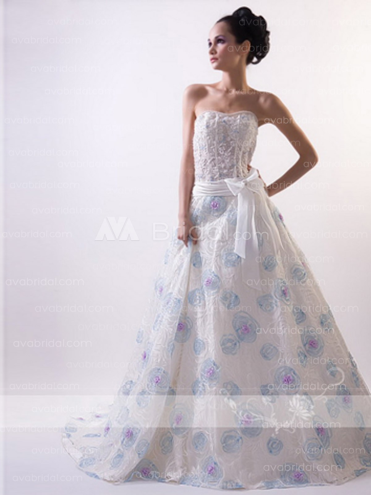 Coloured Wedding Gown - Pheobe - Front