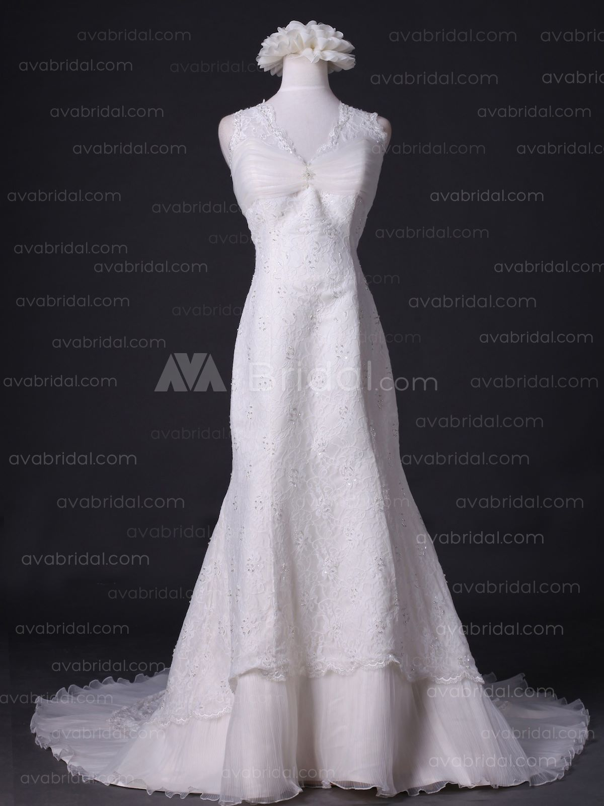 Vintage Wedding Dress - Carolyn - Front