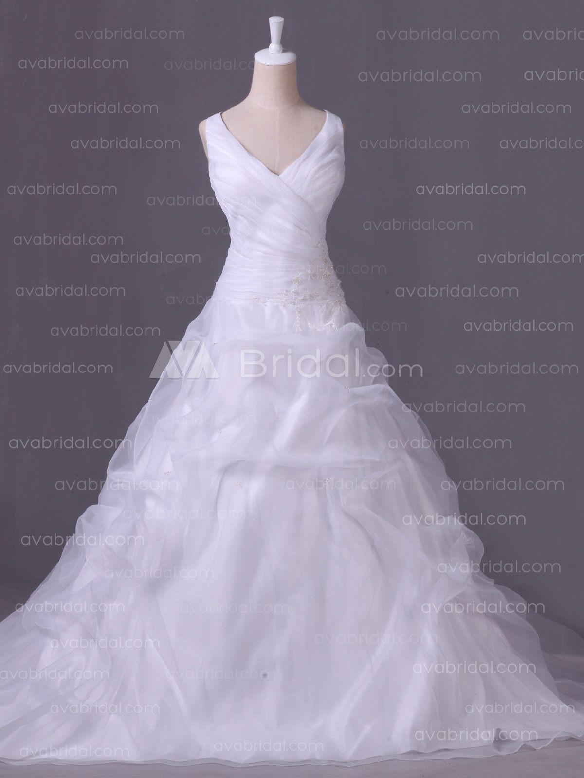Plus Size Wedding Dress - Marilynn- Front