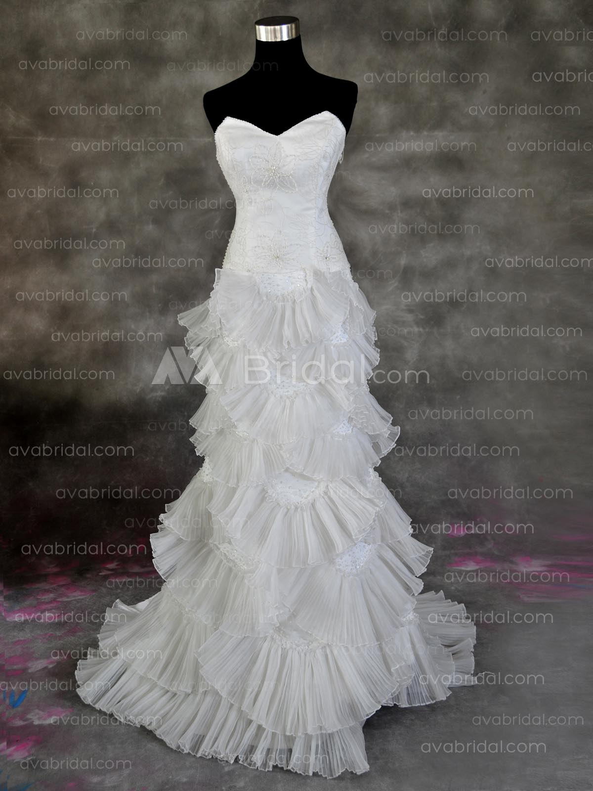 Old Hollywood Wedding Dress - Nasia - Front