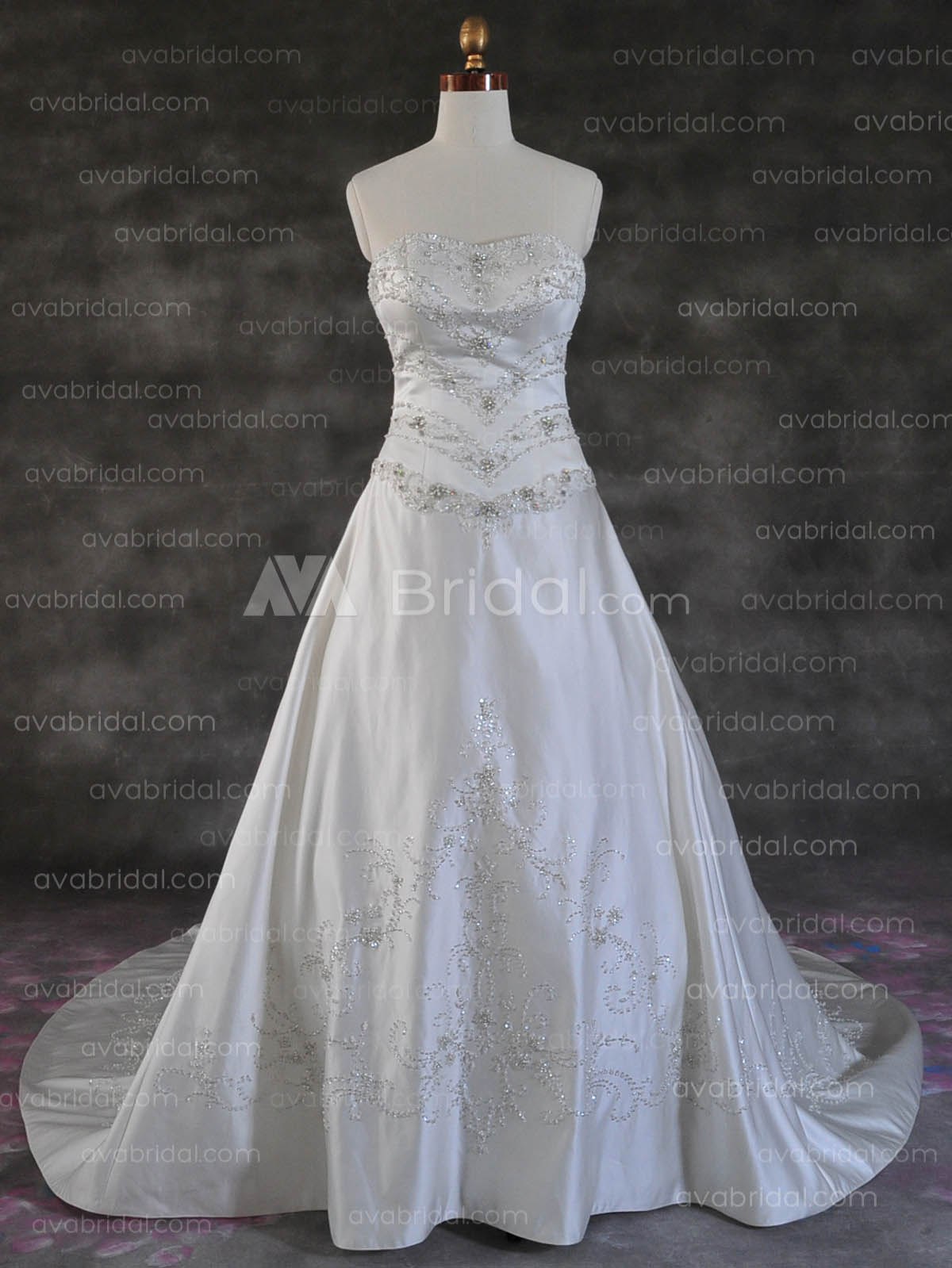 Heavily Beaded Gown - Willa - Front