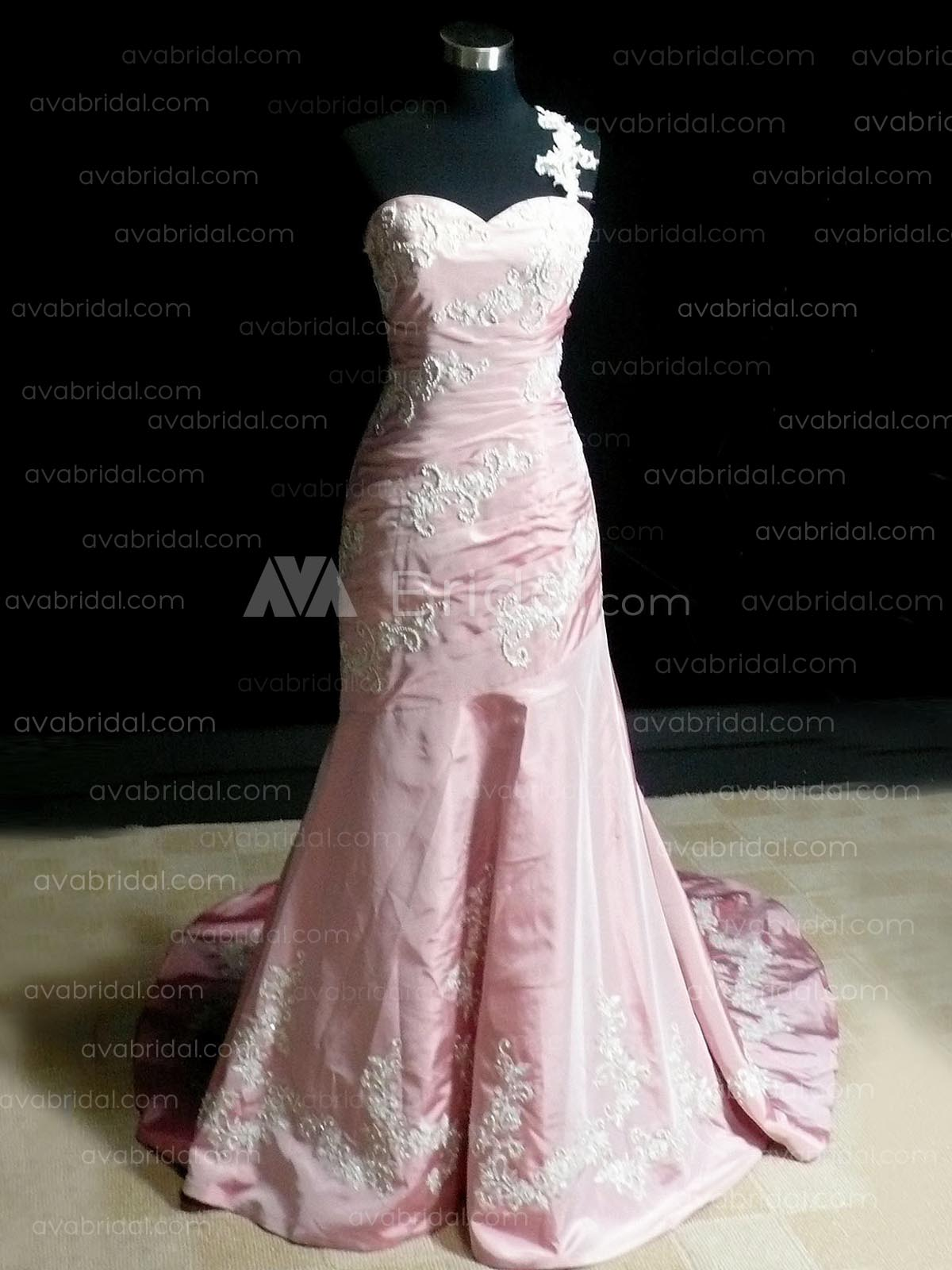One Shoulder Wedding Dress - Ertha - Front
