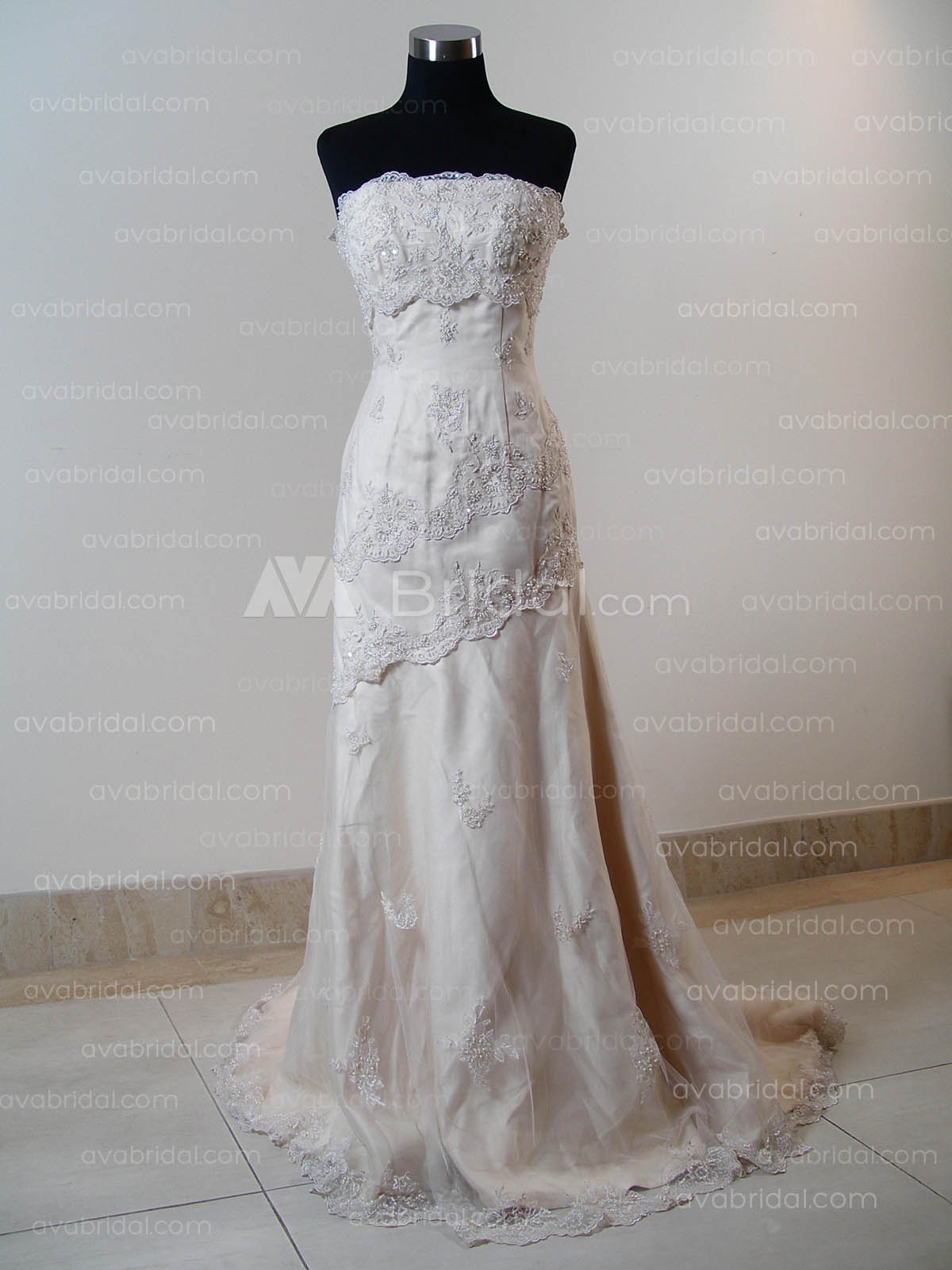 Elegant Wedding Dress - Jodie - Front