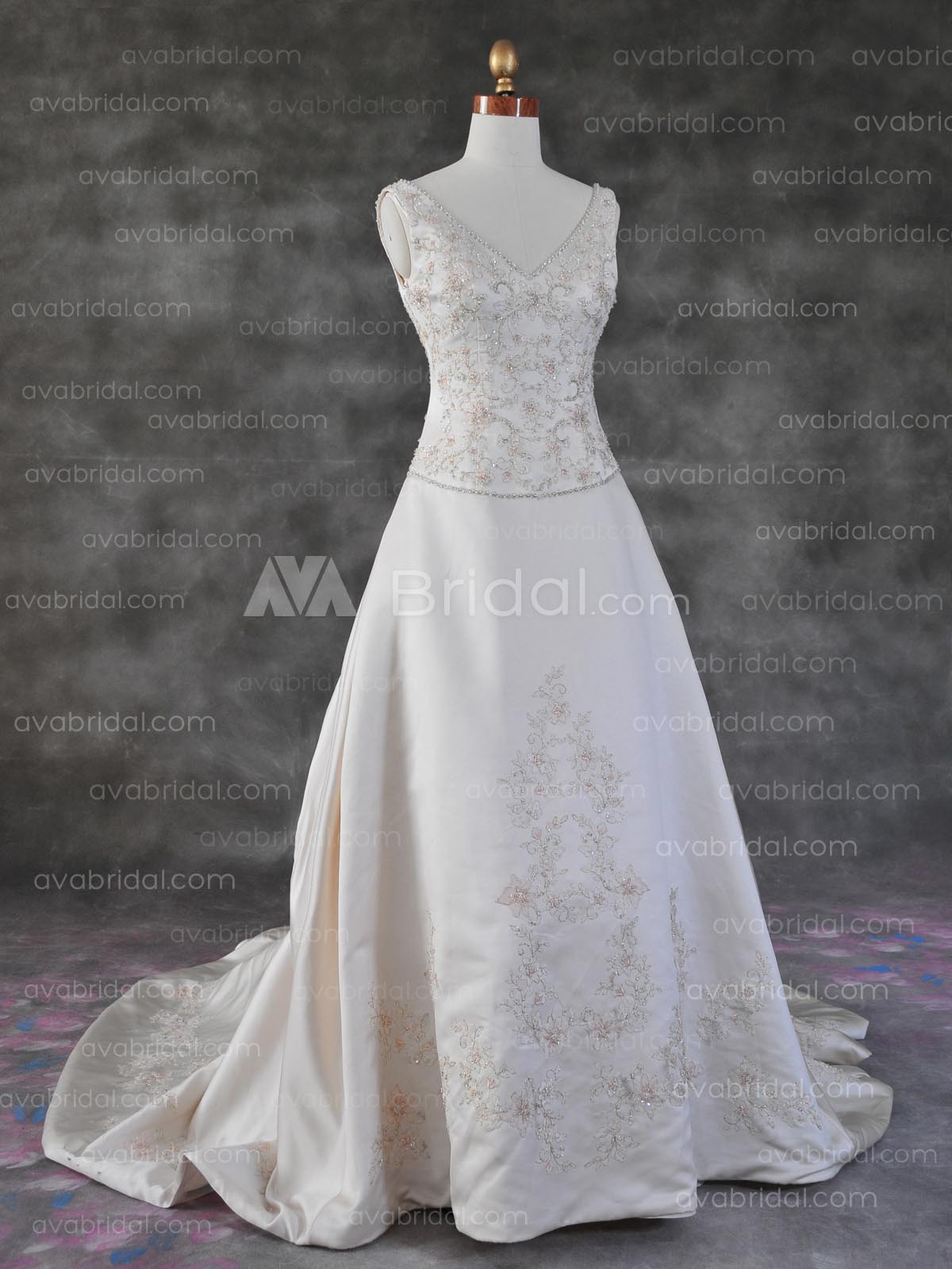 Plus Size Wedding Gown – Calantha - Front
