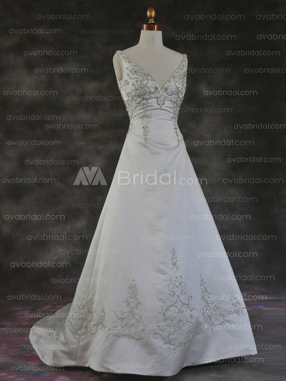 Heavy Beading Wedding Dress - Patrice - Front