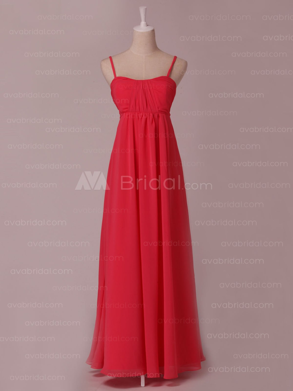 Classic Sheath Chiffon Bridesmaid Dress B452-Front