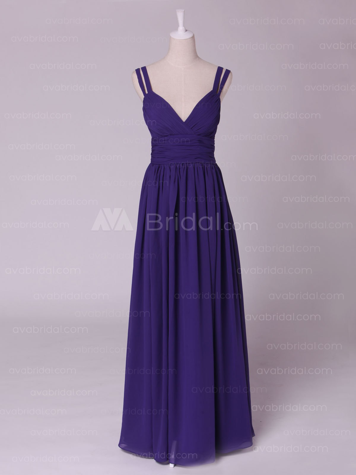Chic Double Shoulder Straps Bridesmaid Dress B459-Front
