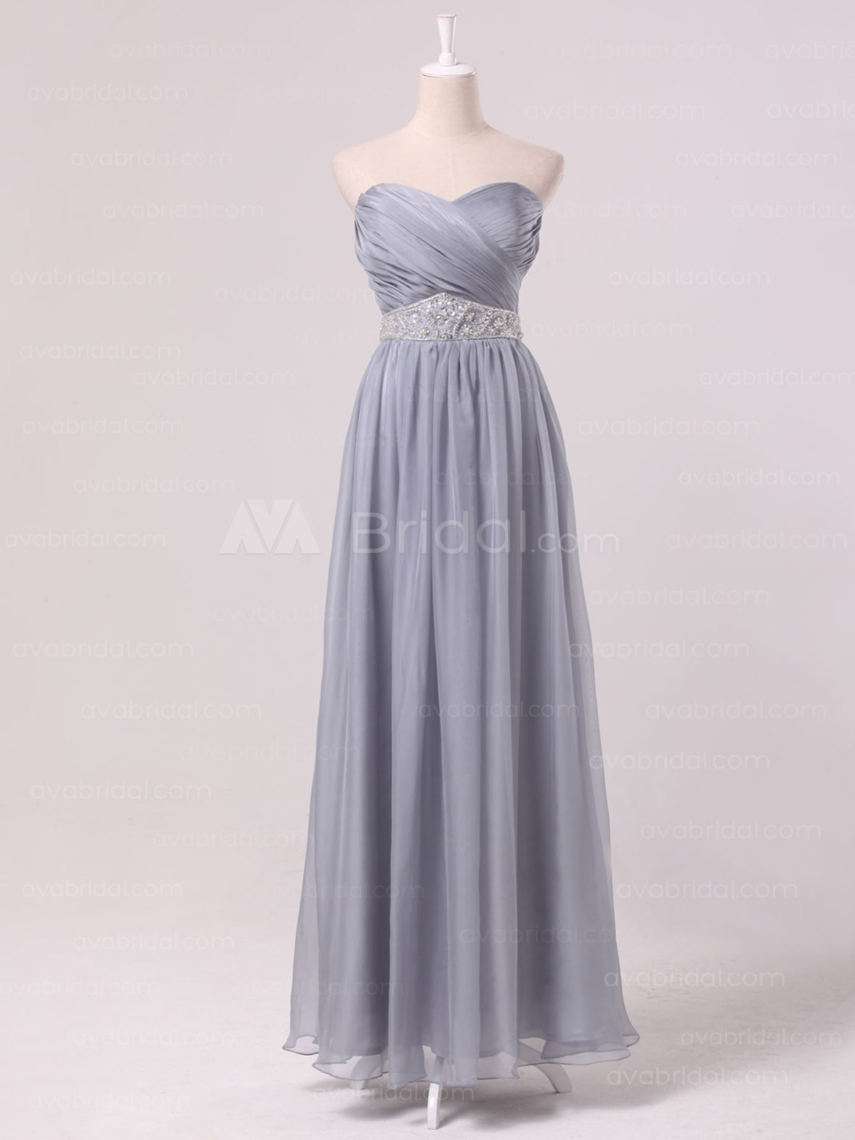 Glamorous Chiffon Bridesmaid Dress B470-Front