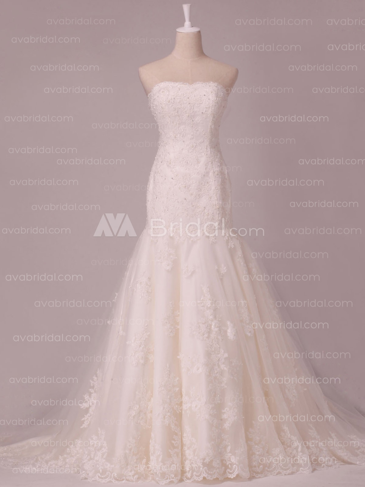 Lace Wedding Gown - Zita - Front