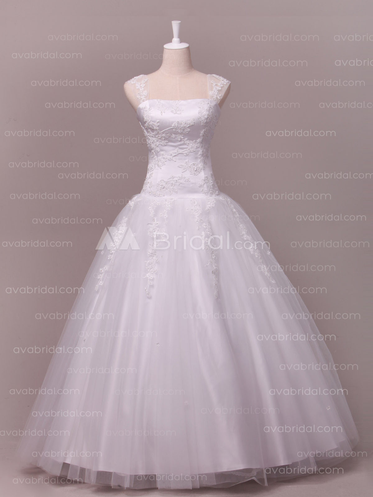 Princess Tulle Bridal Gown W814-Front