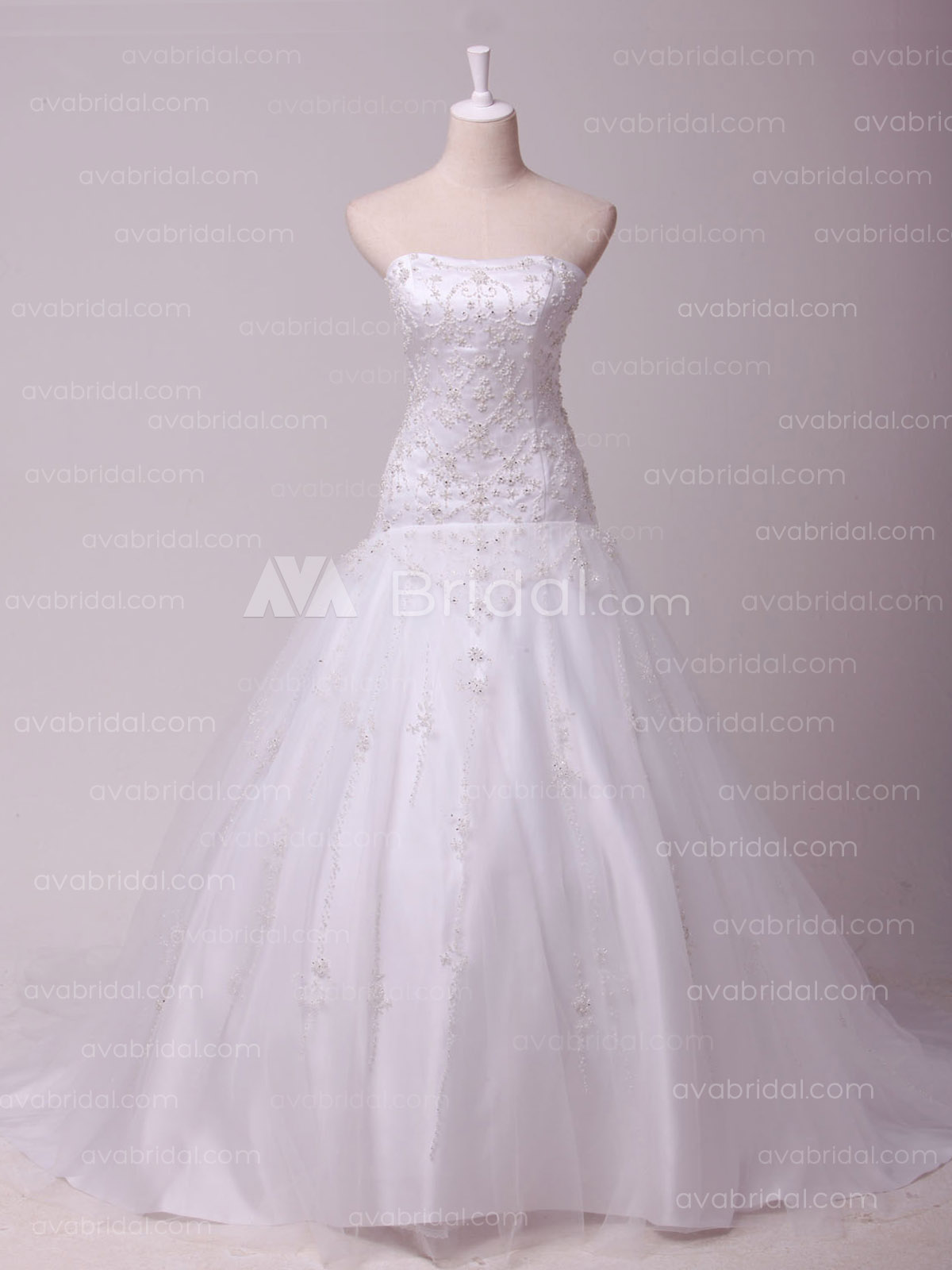 Tulle Ball Gown W825-Front