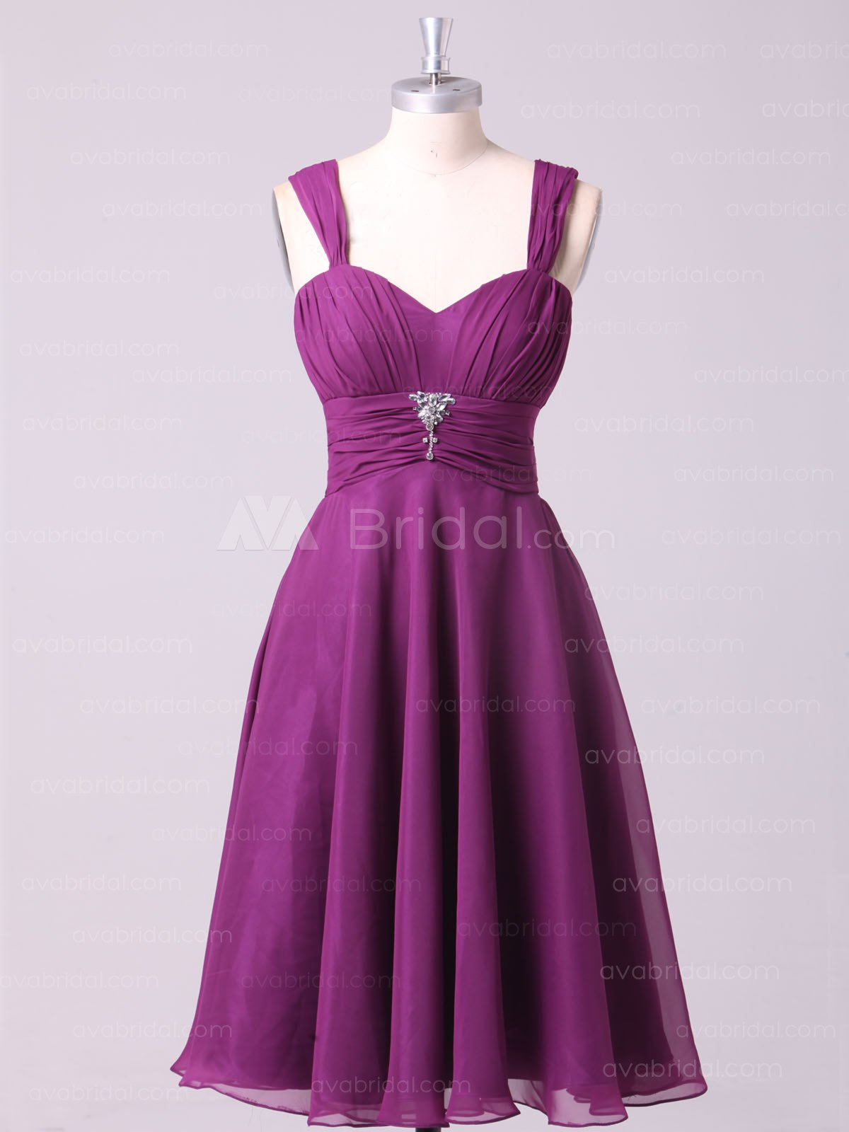Casual Empire Bridesmaid Dress B464-Front
