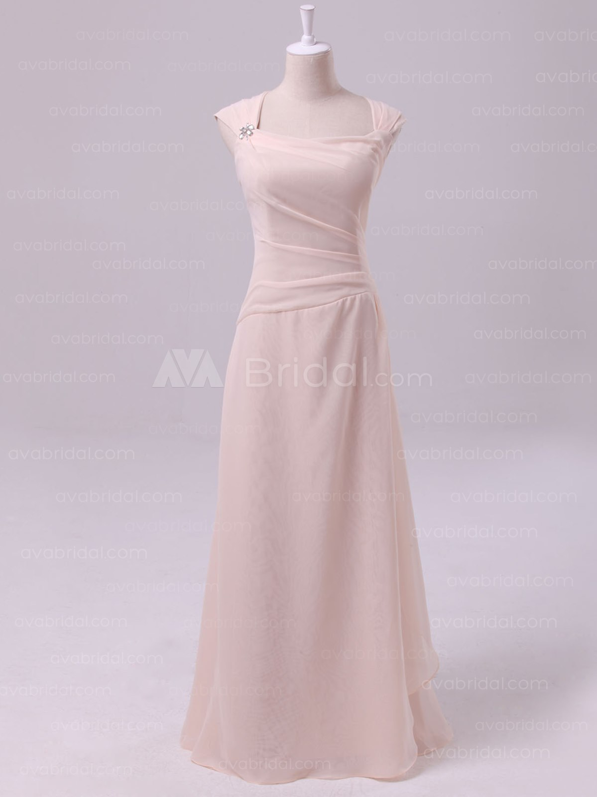 Chic Sheath Bridesmaid Dress B465-Front