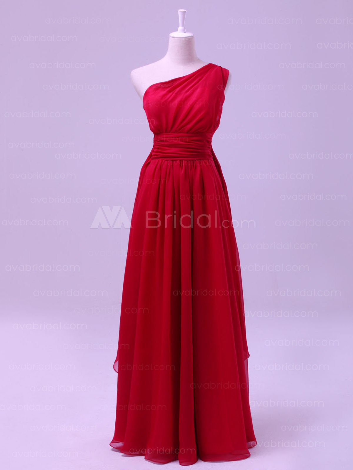 Grecian Chiffon Bridesmaid Dress B467-Front
