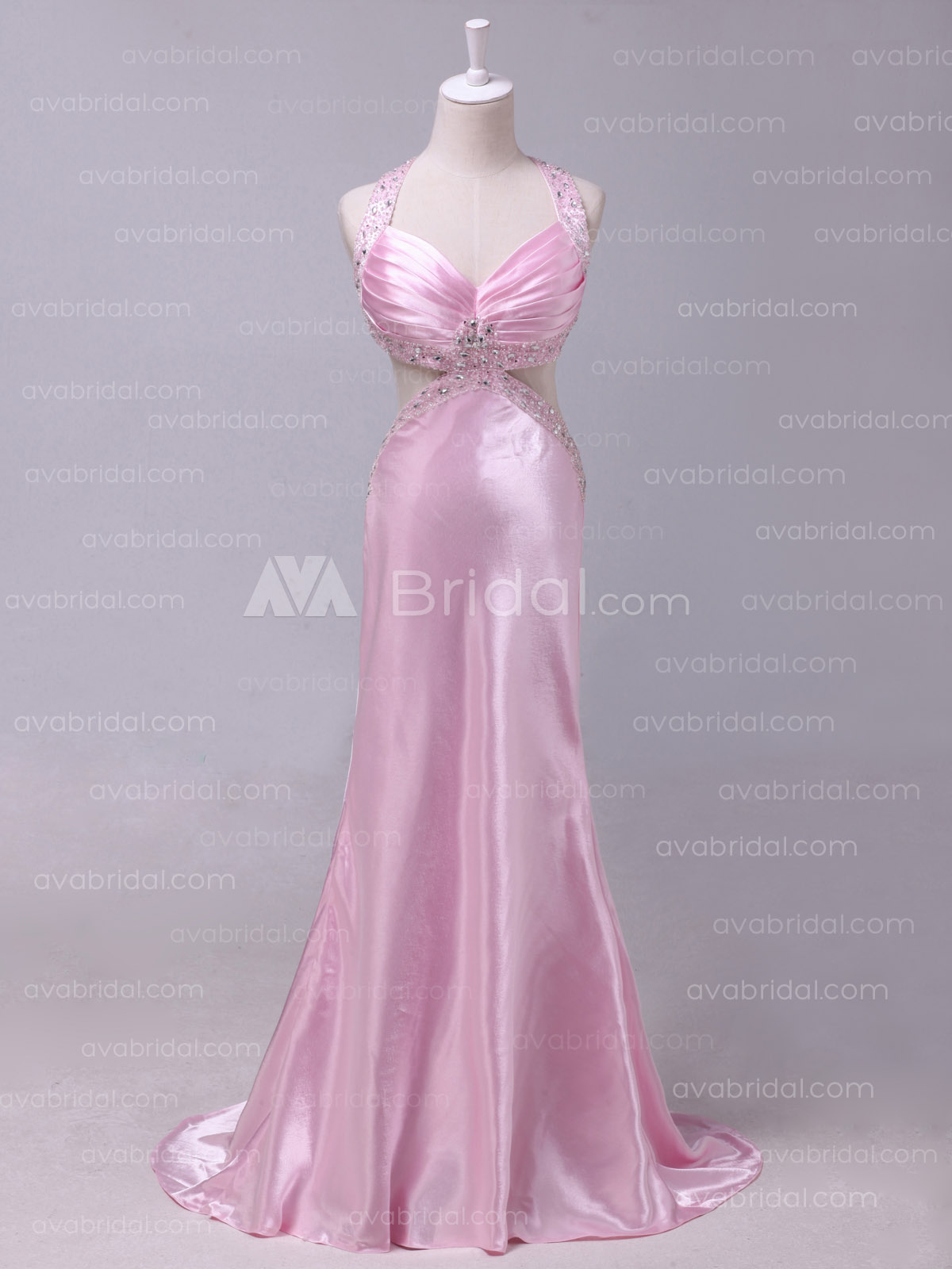 Stunning Beaded Slim Line Chic Formal Dress B488 - Front