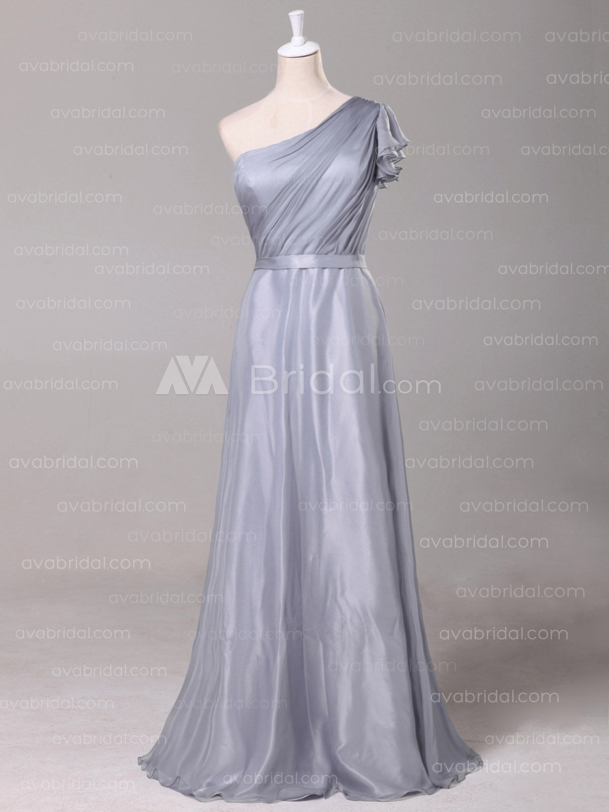 Grecain Goddess Bridesmaid Dress B490 - Front