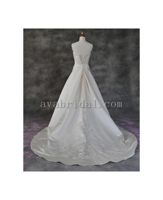 Modest Wedding Gown - Mary - Back