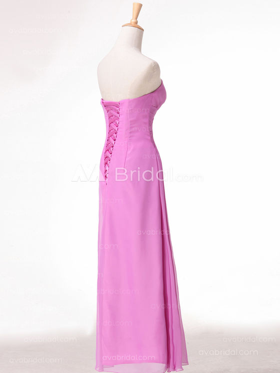 Slim Line Chiffon Simple Bridesmaid Dress B492