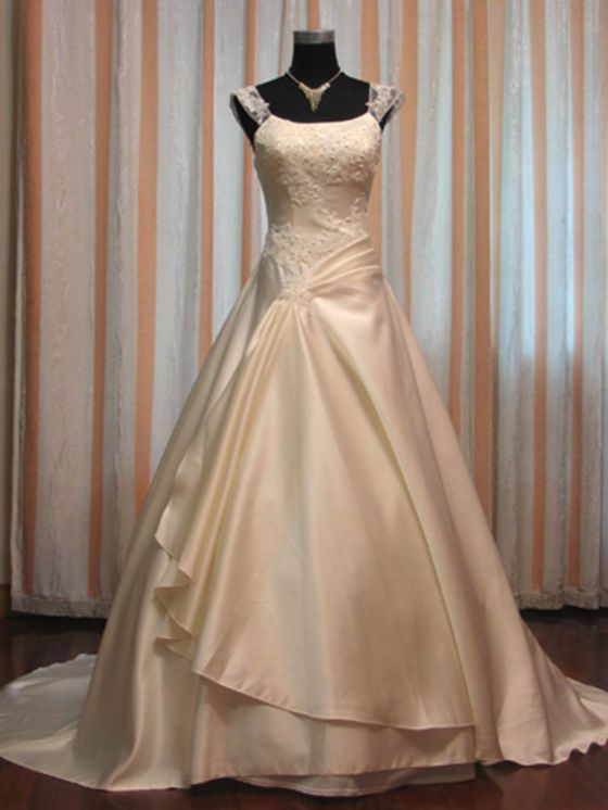 Modest Wedding Gown - Penelope - Front