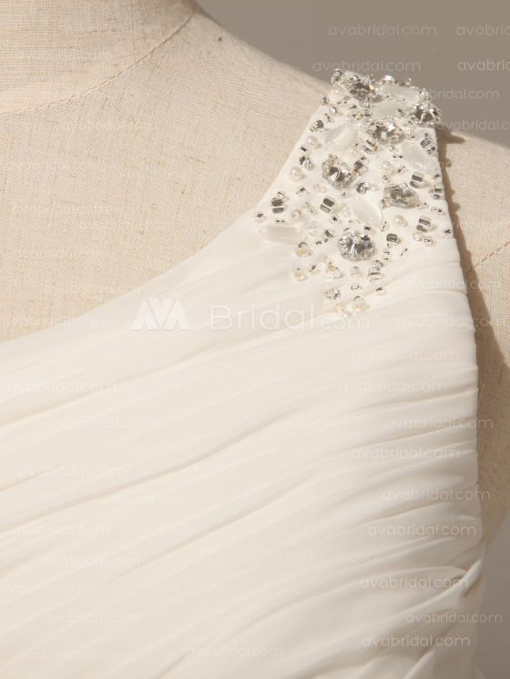 Grecian Goddess Wedding Dress - Pamela - Strap