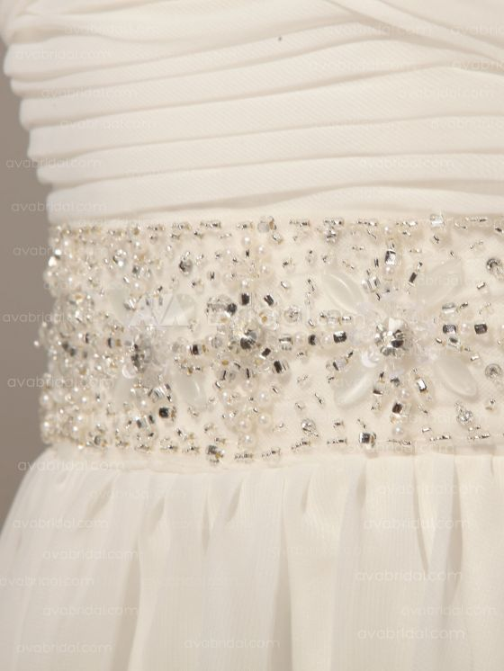 Grecian Goddess Wedding Dress - Pamela - Embellishment