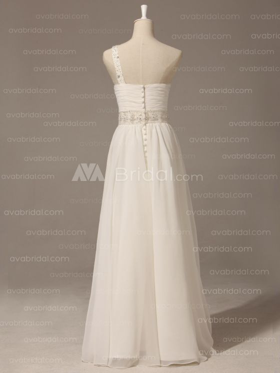 Grecian Goddess Wedding Dress - Pamela - Back