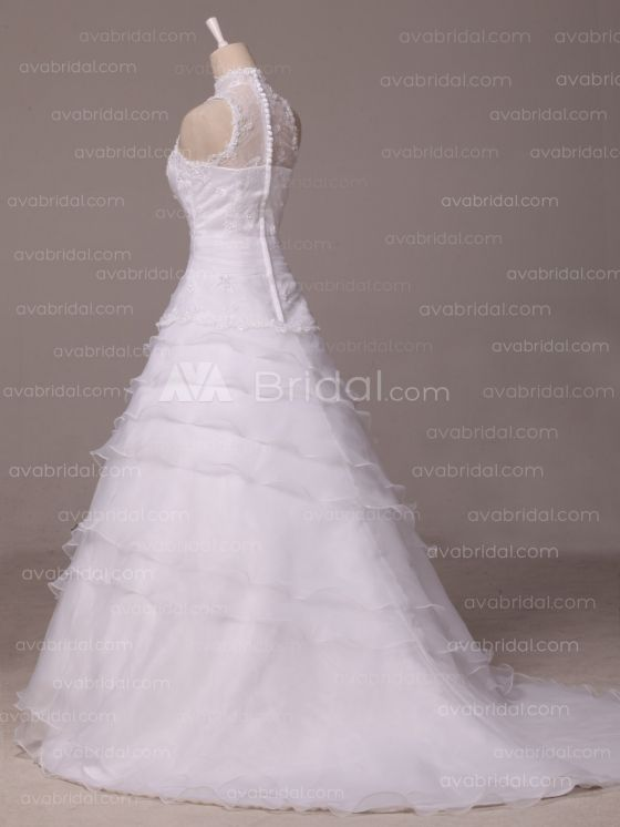 Vintage Inspired Wedding Dress - Ierne - Left Side