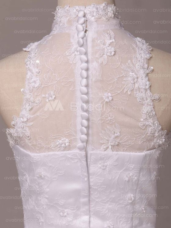 Vintage Inspired Wedding Dress - Irene - Back Bodice