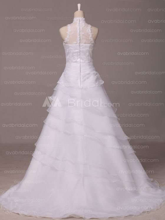 Vintage Inspired Wedding Dress - Ierne - Back
