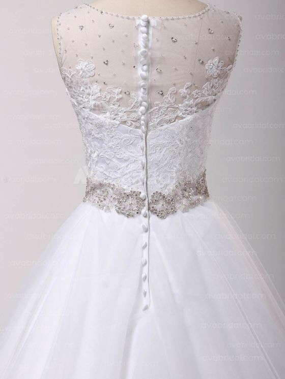 Gorgeous Vintage Wedding Dress – Abriana - Back Closure