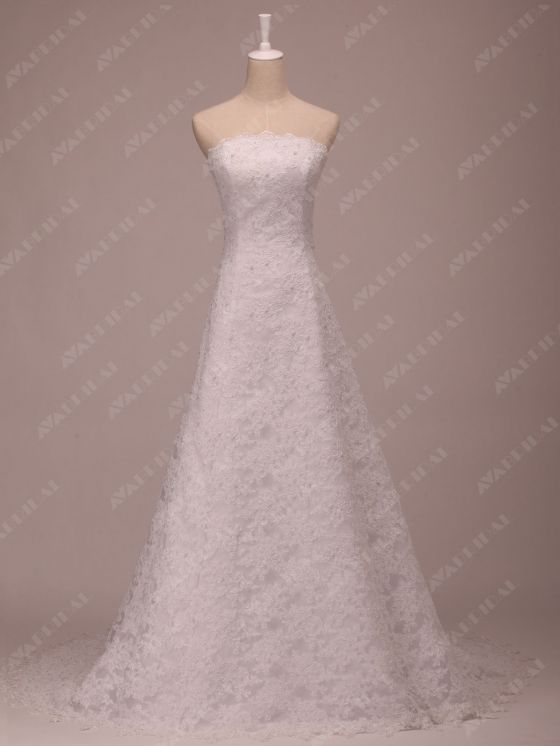 Full Lace Wedding Dress - Bliss - Front