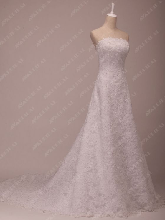 Full Lace Wedding Dress - Bliss - Right Side