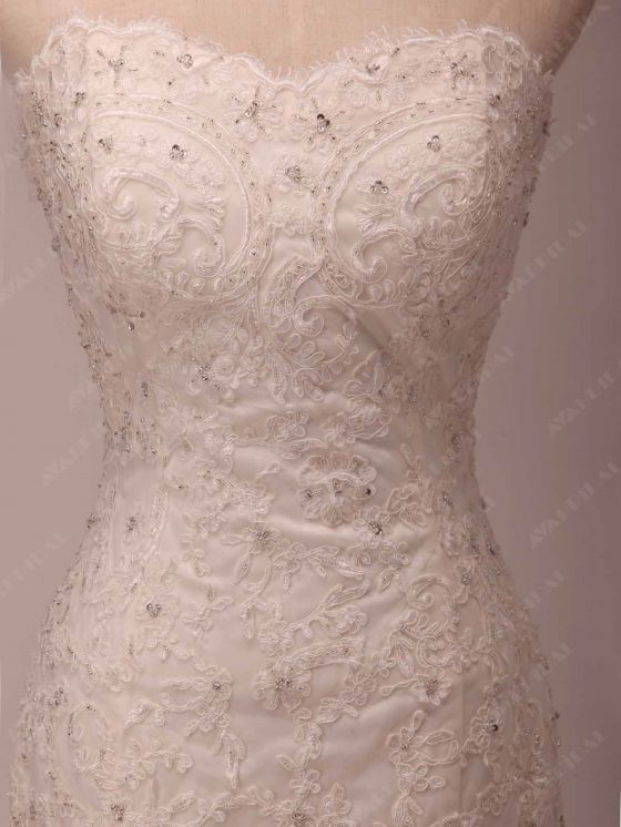 Lace Wedding Dress - Grace - Hem
