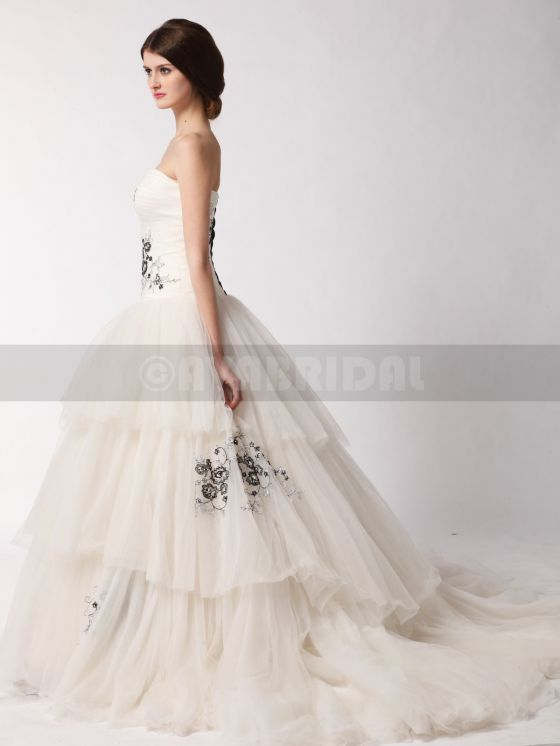 Alternative Wedding Dress- Alyssia- Left Side