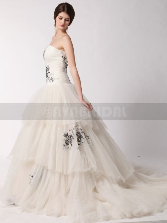 Alternative Wedding Dress-Alyssia- Left Side Skirt
