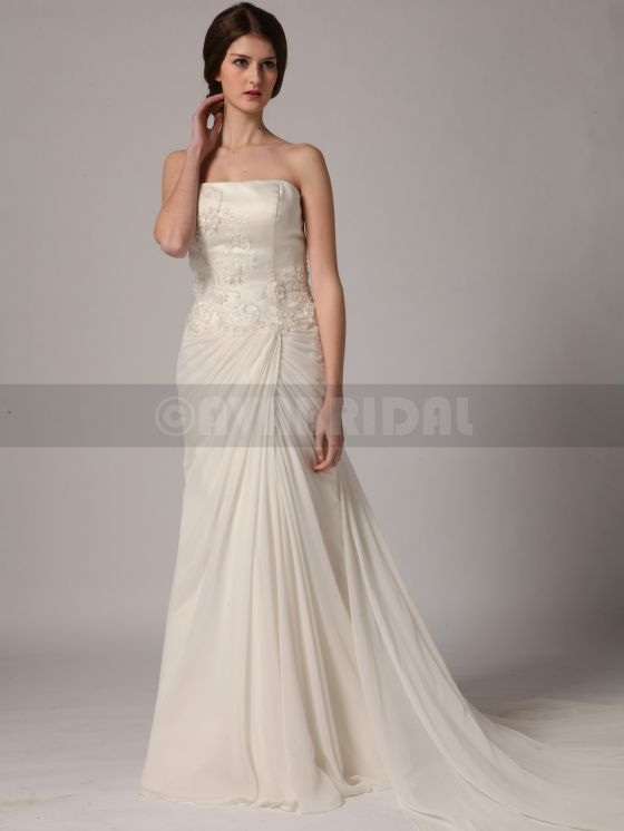 Beach Style Wedding Dress - Yvonne -Front
