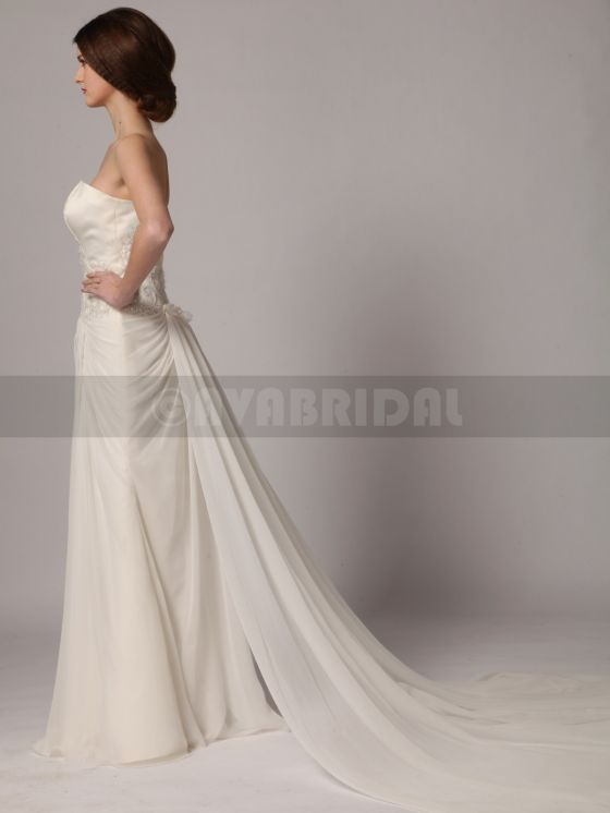 Beach Style Wedding Dress - Yvonne -Left